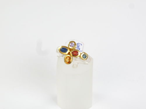 Saphir Ring multicolor